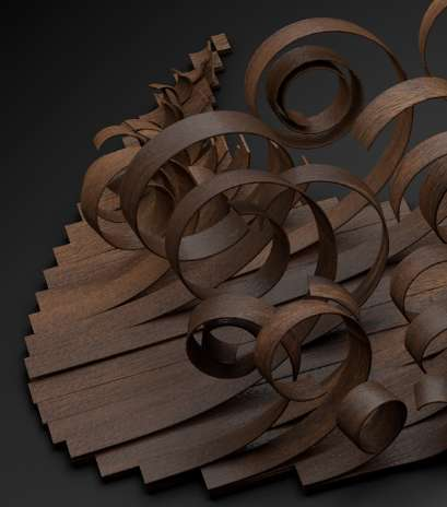 Curled Timber Typography