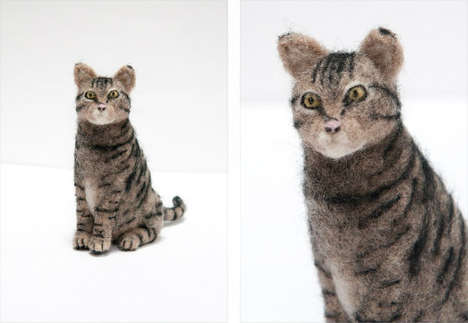 Felt-Made Fauxidermy Figures - Kiyoshi Mino Combines Special Taxidermy and Eco-Friendly Art