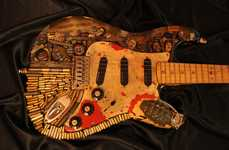Customized Zombie Guitars - This Walking Dead Guitar Design is Gruesomely Violent