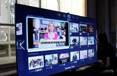 Social Media-Connected TVs - Samsung's Line of Smart Hub TVs Brings Social Media to the Living Room