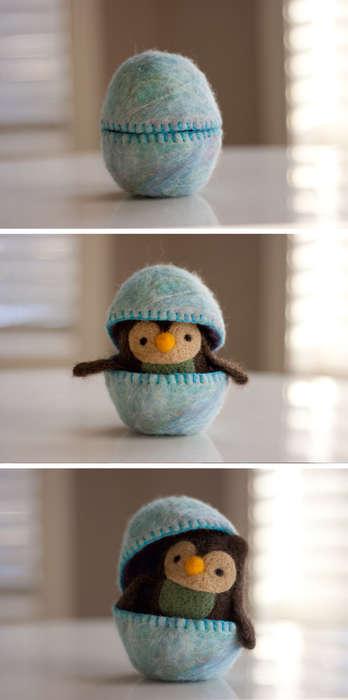 Adorable Felt-Covered Eggs