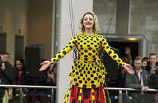 Elongated Dress Designs - This Giant Henry Holland Dress is Officially the Longest in the World
