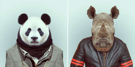 Dapperly Dressed Animal Captures - The Zoo Book by Yago Partal Displays Cute Animals in Chic Clothes