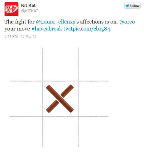 Chocolate Social Media Feuds - Kit Kat Challenges Oreo to Twitter Tic-Tac-Toe with Hilarious Results