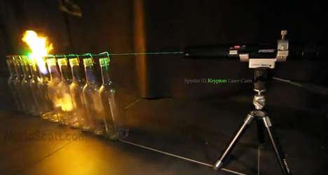 Laser-Ignited Alcohol Bottles