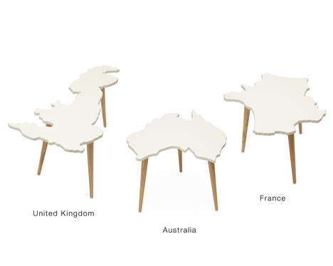 Country-Shaped Coffee Tables