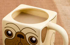 Cute Canine Coffee Mugs - The Pug Mug is an Adorable Way to Pay Tribute to this Miniature Dog