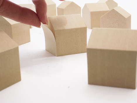 House-Shaped Paper Notepads