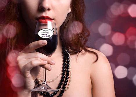Humorous Wine Glass Stickers