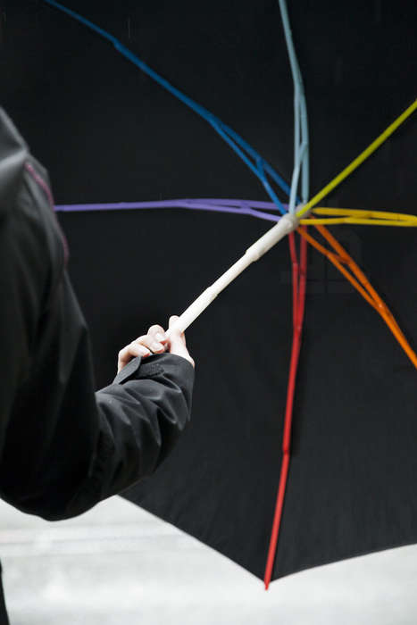 The Components of the Ginkgo Umbrella Can Be Dismantled and Recycled