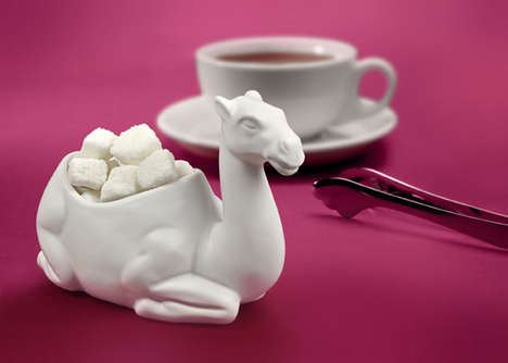 Kneeling Camel Sugar Bowls