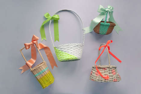 Pretty DIY Easter Baskets - Get Artistic with These DIY Easter Baskets From the Oh Happy Day Blog