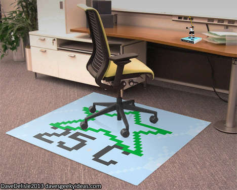 Gamer Icon Chair Carpets - Dave Delisle's Gamer Mat Will Make You Feel Like You're in a