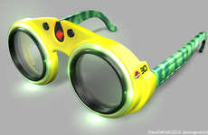 Movie-Inspired 3D Goggles - Dave Delisle's Novelty 3D Glasses Mimic Jurassic Park Goggles
