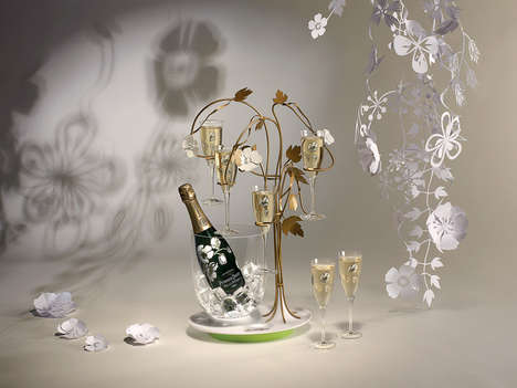Blooming Champagne Tree Decor
