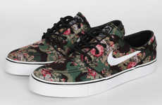 Pixelated Floral Camo Shoes - The Nike SB Stefan Janoski Premium New Release is Chic and Paradoxical