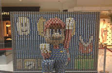 Canned Food Gaming Displays - This 3D Canned Food Display Shows Super Mario Like You've Never Seen