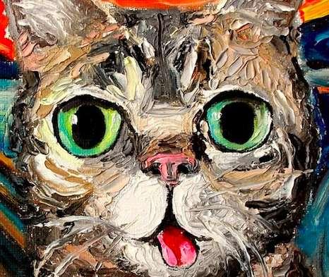 Knife-Based Feline Portraits