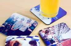 Personalized Photo App Coasters - These Instagram Image Drink Coasters Tell a Pictorial Story