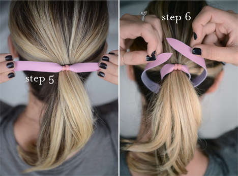 DIY Rawhide Hairbands - The Cupcakes and Cashmere Leather Hair Tie Tutorial is Custom