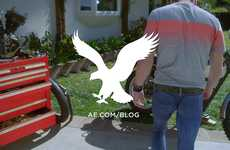 Spray-On Skinny Jean Ads - Ultra Skinny Jeans Being Offered by American Eagle