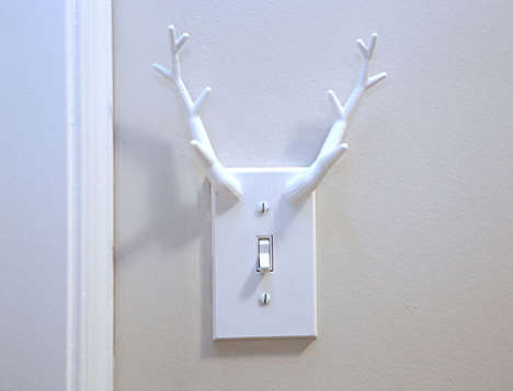 Protruding Antler Light Switches