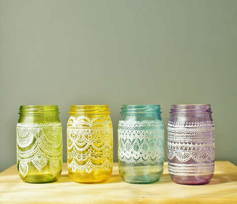 These Hand-Crafted Mason Jars from LITdecor Will Bring Easter to Your Home