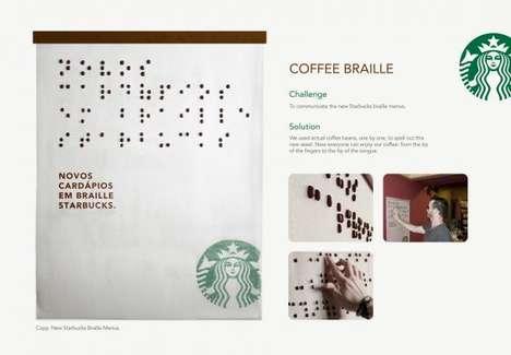 Coffee Bean Braille Menus