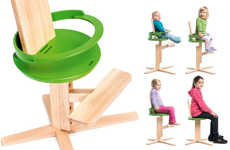 Age-accommodating Furniture - The Wooden Froc Chair Expands as Children Get Older