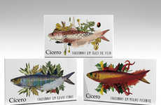 Food-Infused Fish Branding - Cicero Sardines Packaging Suggests the Sea of Flavors Within