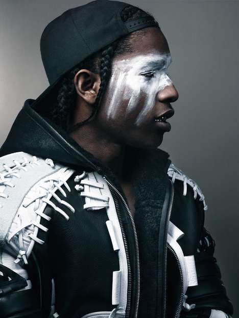 Haute Rapper Editorials  - This Striking Photo Shoot Showcases the Iconic ASAP Rocky Style