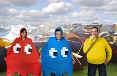 8-Bit Video Game Ponchos - These Plastic Rain Ponchos are Inspired by the Pac-Man Arcade Game