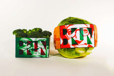 Celeb-Branded Vegetables - Made in Brooklyn Produce Packaging Celebrates the Fertility of New York