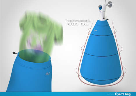 Compact Sack Laundry Dryers - Oyer Portable Clothes Dryer is Easy to Store and Use and Quick to Work
