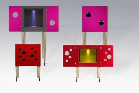 Whimsical Accordion Cabinets