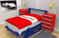 Auto Mechanic Bedroom Sets  - Dave Delisle's Car Bedroom Set is Great for Gearheads
