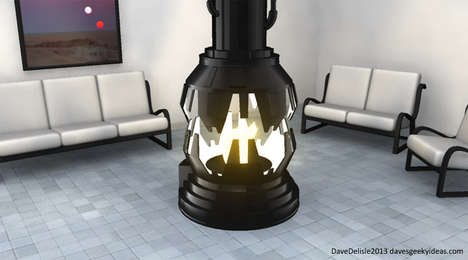Sci-Fi-Inspired Fireplaces