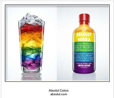 LGBT Pride Alcohol - Absolut Colors