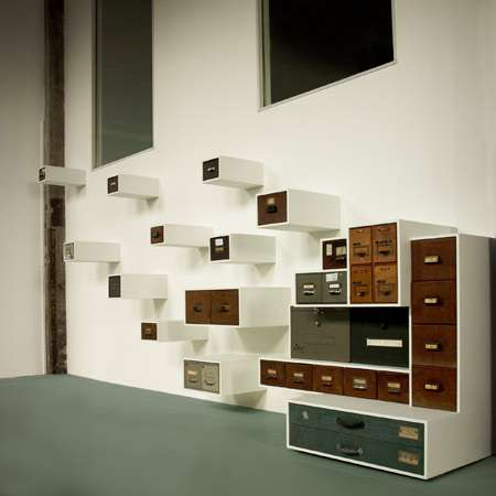 Recycled Office Cabinet Shelves