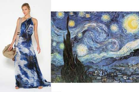 Van Gogh Inspired Fashion - Max Azria's Starry Night Gown
