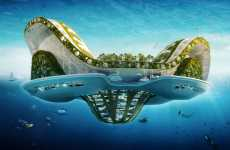 Floating Ecopolis for Climate Refugees - The Lilypad