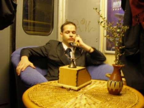 Pranksters Turn Train into a Living Room