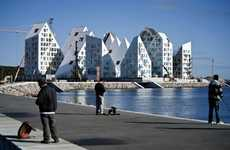 Iceberg-Shaped Housing - The Isbjerget Apartment Complex is a Chilly Waterfront Addition
