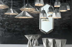 Multifaceted Metallic Furnishings - Tom Dixon's New Home Decor Collection Plays with Texture