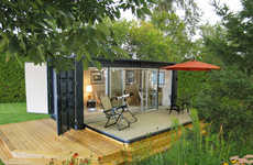 Container-Made Eco Abodes - Ecopods are Environmentally Friendly Houses that Come in a Box