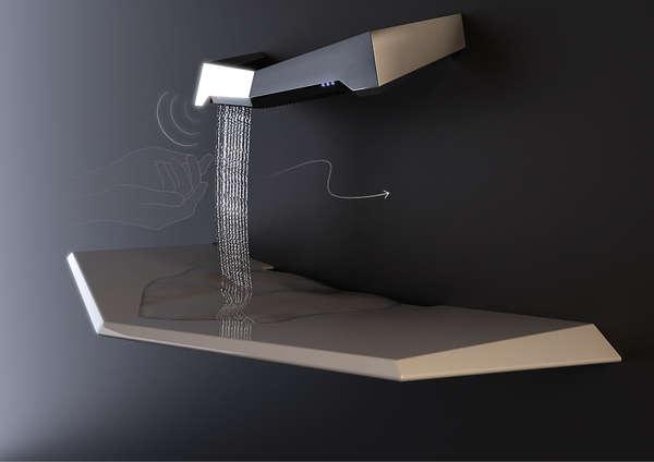 Futuristic Waterfall Faucets