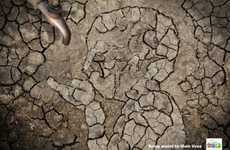 Personified Dirt Floor Ads - The World Water Day 2013 Campaign Brings Awareness to Freshwater Needs
