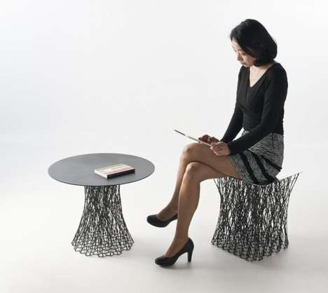 Chaotically Latticed Furniture