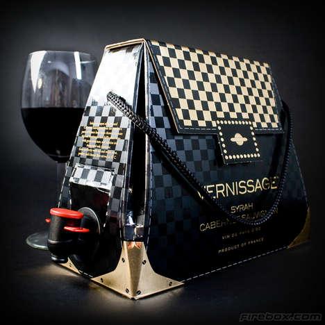 Stylish Portable Wine Handbags