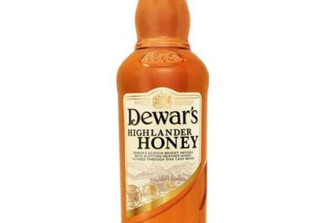 Sweetened Syrupy Scotches - Dewar's Highlander Honey Hopes to Draw in Modern Urban Consumers